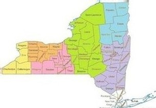 Upstate NY map