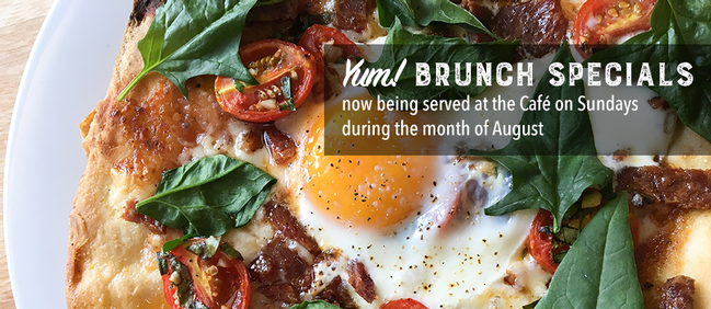 Brunch Specials being served on Sundays during the month of August