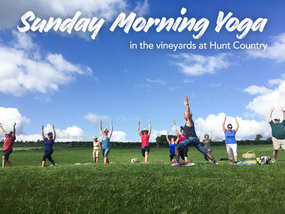 Sunday Morning Yoga in the Vineyards at Hunt Country