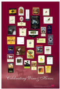 Poster: Celebrating Wine & Horses (Red)